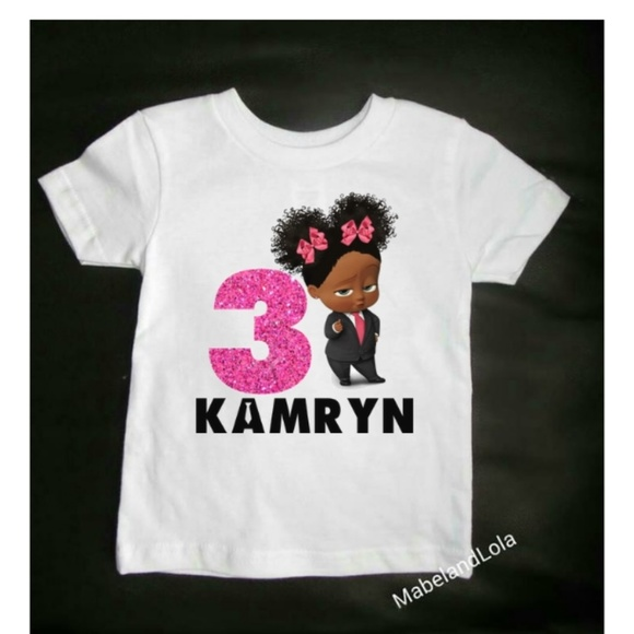 690b1886 Mabel and Lola Shirts & Tops | Personalized Girl Boss Baby Birthday ...